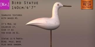 Mesh Bird Statue by Kelith Store - Teleport Hub - teleporthub.com
