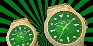 St. Patrick's Day Mesh Gold Watches Gift Set by Watch Shop Watches - Teleport Hub - teleporthub.com