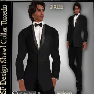 Shawl Collared Tuxedo by sf Design - Teleport Hub - teleporthub.com