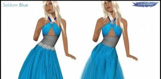 Destiny Gown Blue by SELDOM BLUE - Teleport Hub - teleporthub.com