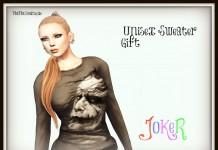 Unisex Joker Sweater by MoiMoi - Teleport Hub - teleporthub.com