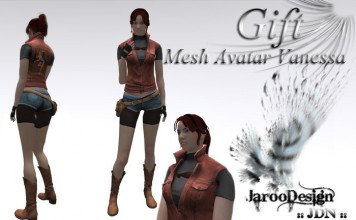 Female Mesh Avatar Vanessa by JarooUK - Teleport Hub - teleporthub.com