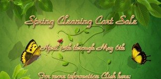 Spring Cleaning Cart Sale - Teleport Hub - teleporthub.com