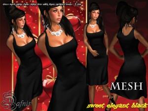 Mesh Sweet Elegance Black Dress by Sandra Serin - Teleport Hub - teleporthub.com