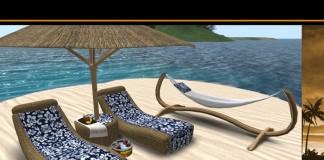 Tiki Tropical Beach Furniture Set by Headhunter's Island - Teleport Hub - teleporthub.com