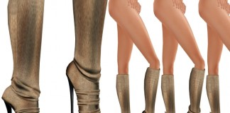 Soft Stone Leather Knee Length Boots Promo by Affordable Living - Teleport Hub - teleporthub.com