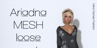 Ariadna Mesh Loose Sweater Promo by Mind Games Fashion - Teleport Hub - teleporthub.com