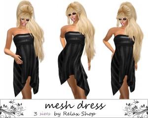 Leather Mesh Dress Promo by Relax Shop - Teleport Hub - teleporthub.com