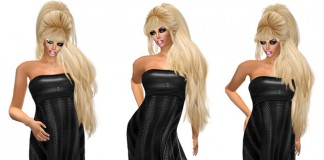 Leather Mesh Dress Promo by Relax Shop - Teleport Hub - teleporthub.com