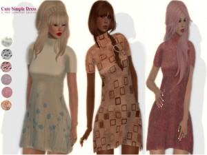 Cute Mesh Simple Dress Promo Pack by Masha - Teleport Hub - teleporthub.com