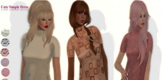 Cute Mesh Simple Dress Promo Pack by Masha - Teleport Hub - teleporthub.com