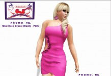Mesh Hole Dress Pink Promo by A&G Projects (10L) - Teleport Hub - teleporthub.com