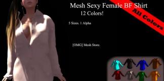 Mesh Ladies Sexy BF Shirt Fatpack 10L PROMO by [OMG] - Teleport Hub - teleporthub.com