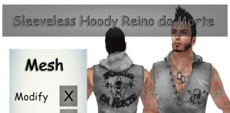 Sleeveless Hoody Reino da Morte by RH - Teleport Hub - teleporthub.com