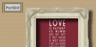 LOVE Corinthians Red Picture in White Ornate Frame by Purdink - Teleport Hub - teleporthub.com