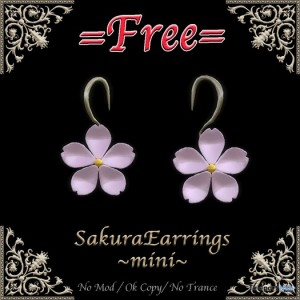 Sakura Earrings by Miroku - Teleport Hub - teleporthub.com