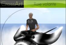 Flying Manta Ray by CrossArt - Teleport Hub - teleporthub.com