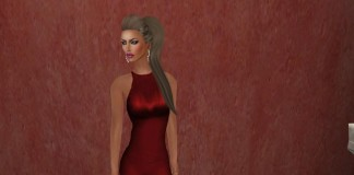Pepper Red Gown Group Gift by Ydea - Teleport Hub - teleporthub.com