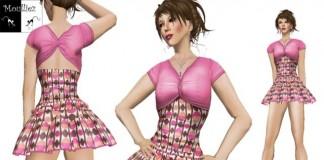 Maryanne Pink Mini Dress by Jeanne Moulliez - Teleport Hub - teleporthub.com