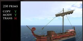 Imperial Red Roman Static Ship by Ars Navalis - Teleport Hub - teleporthub.com