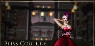 Mesh Ballgown June 2013 Group Gift by Bliss Couture - Teleport Hub - teleporthub.com