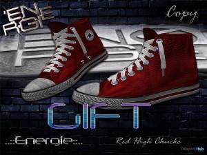 Red High Chucks Bag Shoes Gift by Energie - Teleport Hub - teleporthub.com