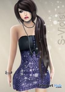 Mesh Sequin Violet Dress by YAKO - Teleport Hub - teleporthub.com