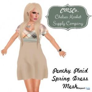 Peachy Plaid Tartan Spring Dress by CMSCO - Teleport Hub - teleporthub.com