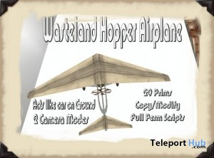 Wasteland Hopper Airplane Full Perm Scripts by Rule 62 - Teleport Hub - teleporthub.com