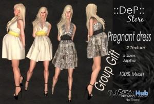 Pregnant Mesh Dress by DeP Store - Teleport Hub - teleporthub.com
