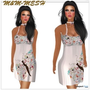 Butterfly Mesh Dress by M&M - Teleport Hub - teleporthub.com