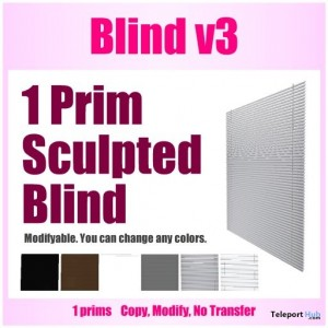 1 Prim Sculpted Windows Blind by ShopNN - Teleport Hub - teleporthub.com