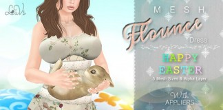 Flounce Dress Easter and Tango Pushup Lush Appliers by LuVs - Teleport Hub - teleporthub.com