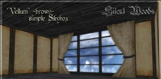 Simple Skybox Vellum Brown by Silent Woods - Teleport Hub - teleporthub.com