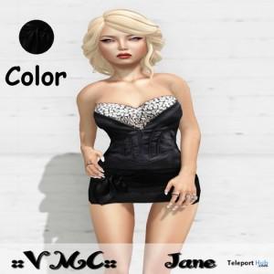 Jane Black Mini Dress Limited Promo by VMC - Teleport Hub - teleporthub.com