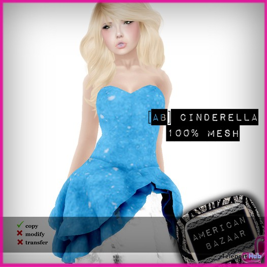 Mesh Frivole Dress Cinderella Promo by [ AMERICAN BAZAAR ] - Teleport Hub - teleporthub.com