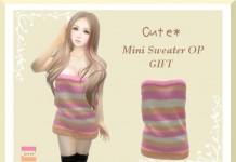 Mesh Mini Sweater Promo by Cute - Teleport Hub - teleporthub.com
