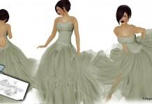 Hazy Fields Summer Gown by Sharodie's Design - Teleport Hub - teleporthub.com