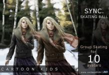 Group Skating Sync Skating Ball for 10 avatars by Cartoon Kids Community - Teleport Hub - teleporthub.com