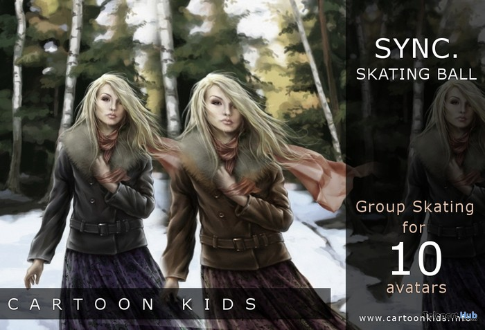 Group Skating Sync Skating Ball for 10 avatars by Cartoon Kids Community - Teleport Hub - teleporthub.com