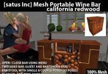 Mesh Portable Wine Bar California Redwood by [satus Inc] - Teleport Hub - teleporthub.com