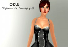 Black Corset Dress September 2013 Group Gift by DEW - Teleport Hub - teleporthub.com