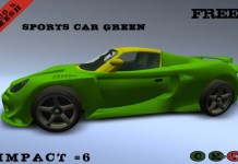Green Sports Car For Decor by MW - Teleport Hub - teleporthub.com