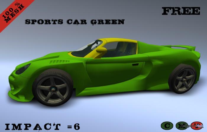 Green Sports Car For Decor by MW - Teleport Hub - teleporthub.com