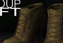 Tundra Khaki Heel Boots Group Gift by Just Design - Teleport Hub - teleporthub.com