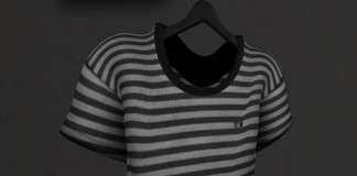 Stripes U-Neck TShirt Group Gift by flow - Teleport Hub - teleporthub.com