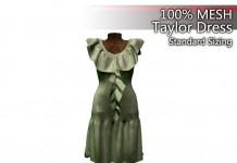 Taylor Dress Rigged Mesh Promo by Cambridge House - Teleport Hub - teleporthub.com