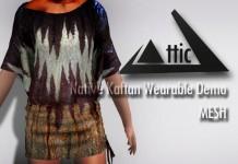 Native Kaftan Mesh Top Wearable Demo by ATTIC - Teleport Hub - teleporthub.com