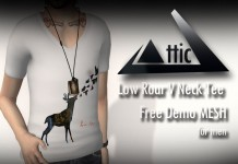 Low Roar V Neck Men Tee Promo by ATTIC - Teleport Hub - teleporthub.com