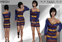 Medita Mesh Sweater Dress Promo by Taneisha Bandler - Teleport Hub - teleporthub.com